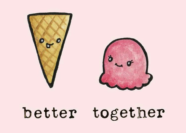 Ice cream and its cone: better together